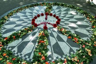 Strawberry Fields Forever John Lennon Central Park memorial rangoli